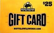 15.00 BUFFALO WILD WINGS GIFT CARD